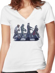 Universal Road Parody Women's Fitted V-Neck T-Shirt