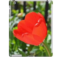 Backlit Red Tulips iPad Case/Skin