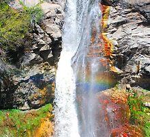 Waterfall Mt. Lassen Volcanic by pinkT