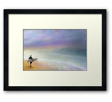 Ready to surf the vast beauty Framed Print