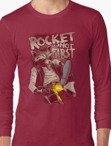 First Shot Parody Long Sleeve T-Shirt