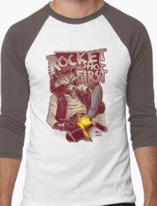 First Shot Parody Men's Baseball ¾ T-Shirt