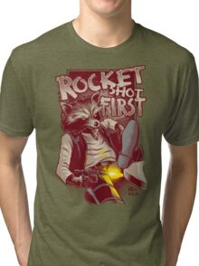 First Shot Parody Tri-blend T-Shirt