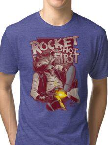 First Shot Parody Tri-blend T-Shirt
