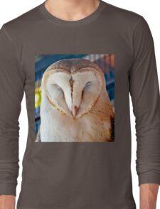 Sleeping Barn Owl Long Sleeve T-Shirt