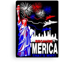 Because 'Merica, That's Why T-Shirt design Canvas Print