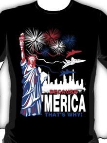 Because 'Merica, That's Why T-Shirt design T-Shirt