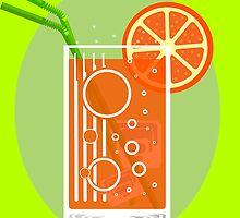 Ice and a Slice - Orange by SquareDog