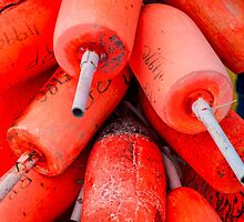 Orange Buoys by JoeGeraci