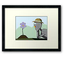 May Robot Framed Print