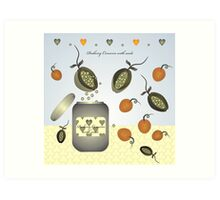 Peaberry Conserve with seeds Art Print