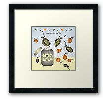 Peaberry Conserve with seeds Framed Print