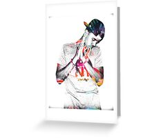 J.Cole - Tye Dye Greeting Card