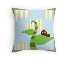 Bean Stalk Throw Pillow