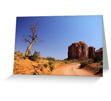 Desert driving Greeting Card