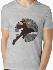 Captain Falcon (Smash 4, Knee of Justice) - Sunset Shores Mens V-Neck T-Shirt