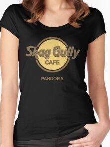 Skag Gully Cafe (undistressed) Women's Fitted Scoop T-Shirt
