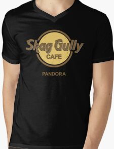Skag Gully Cafe (undistressed) Mens V-Neck T-Shirt