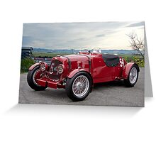 1938 Aston Martin Vintage Racecar Greeting Card