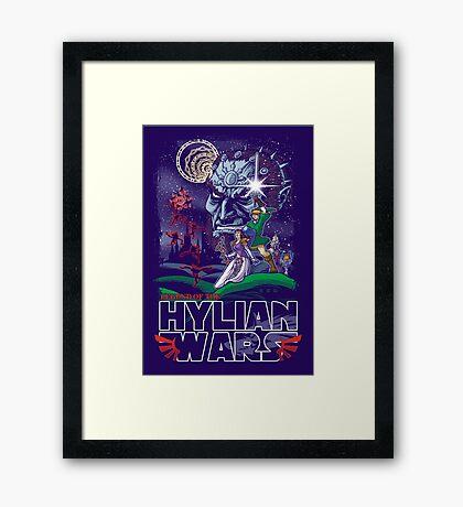Hylian Wars Parody Framed Print