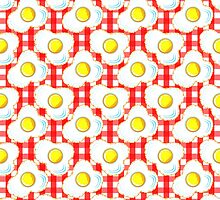 Eggs (red gingham) by SquareDog