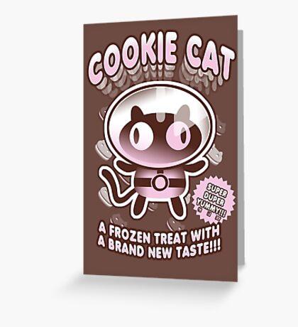 Cookie Cat Parody Greeting Card