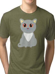 Only One Gray Cat Tri-blend T-Shirt