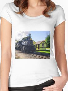 Passing Through Chester Women's Fitted Scoop T-Shirt