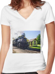 Passing Through Chester Women's Fitted V-Neck T-Shirt