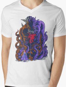 Demon and Child Mens V-Neck T-Shirt