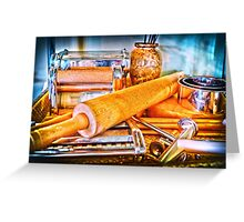 Pasta Tools Greeting Card