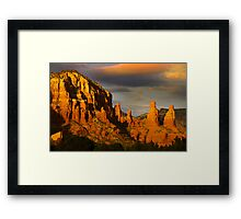 Red rock hills in Sedona Framed Print