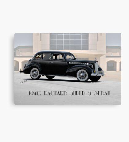 1940 Packard Super 8 Sedan w Text Canvas Print