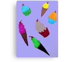 Cupcakes and Ice Cream Cones Canvas Print