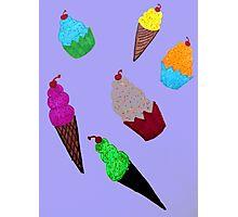 Cupcakes and Ice Cream Cones Photographic Print