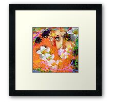 """ The queen of flowers "" Framed Print"