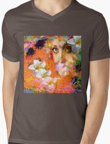 """"""" The queen of flowers """" Mens V-Neck T-Shirt"""
