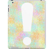 Color Splash Exclamation iPad Case/Skin