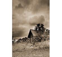 Scenic Landscape In Sepia Photographic Print