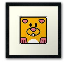 Cheeks the Hamster Framed Print