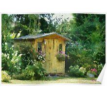 Garden Chalet Poster