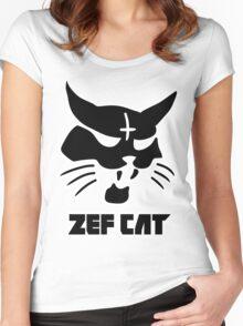 Zefcat (black) Women's Fitted Scoop T-Shirt