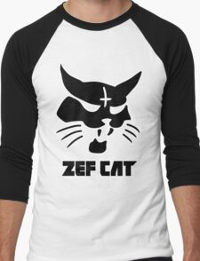 Zefcat (black) Men's Baseball ¾ T-Shirt