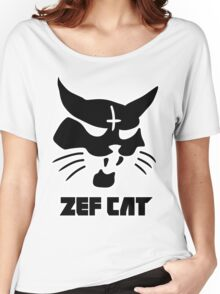 Zefcat (black) Women's Relaxed Fit T-Shirt