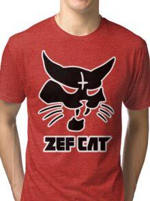 Zefcat (black) Tri-blend T-Shirt