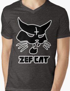 Zefcat (black) Mens V-Neck T-Shirt
