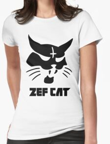 Zefcat (black) Womens Fitted T-Shirt
