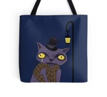 Sad Cat with Moonlight Memories Tote Bag