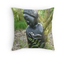 black madonna Throw Pillow
