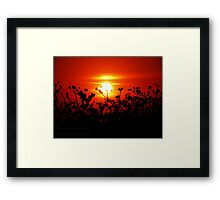 Sunset in Paradise - unedited Framed Print